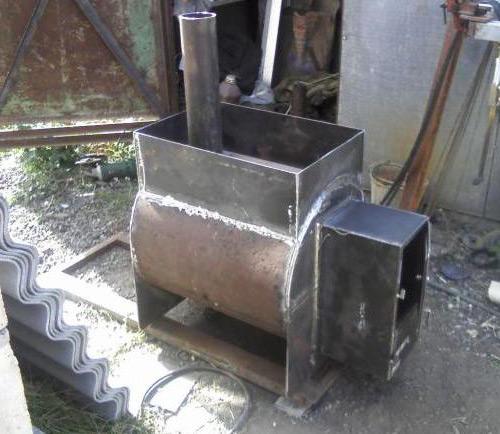 Самодельная банная печь из металла своими руками чертежи