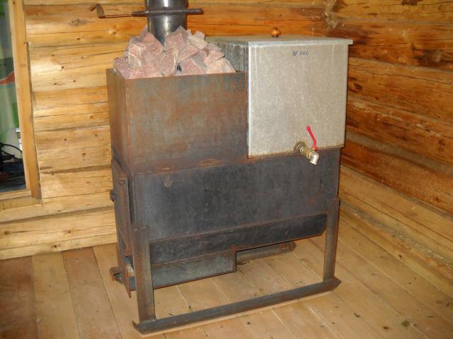 Металлические печи для бани на дровах