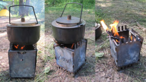 Печка щепочница своими руками