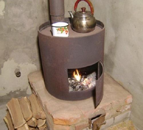 Дровяная печка своими руками в гараж