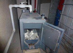 Печка в гараж на дровах