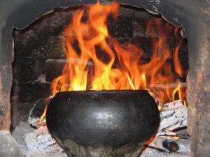 Дымит печь