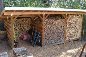 Как сделать деревянный дровник для дачи своими руками?