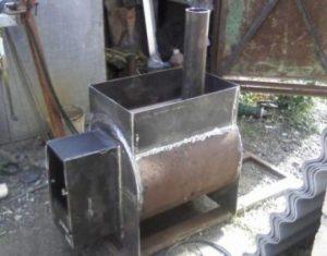 Как сделать печь для бани на газу самому