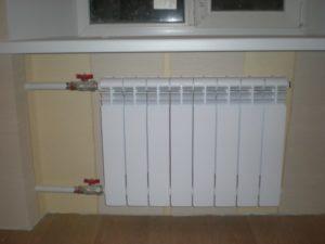 диагонального подключения радиаторов отопления