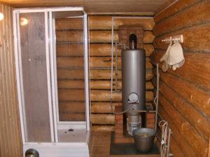 дровяной водонагреватель для дачного душа