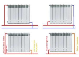Способы диагонального подключения радиаторов отопления