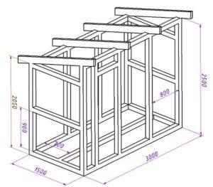 Этапы строительства дровенника