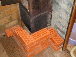 Пошаговая обкладка железной печи кирпичом в бане