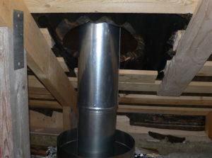 Пошаговый монтаж дымохода из сэндвич-труб через крышу