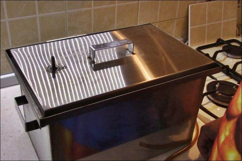 Домашние коптильни для газовой плиты своими руками