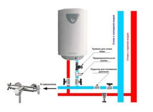 Как правильно подключить накопительный водонагреватель на даче: схема
