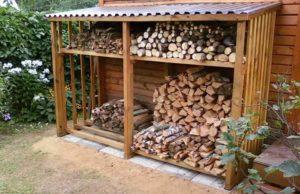 Как сделать навес для дров на даче своими руками?