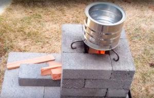 Как поэтапно собирается печь-ракета