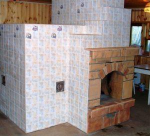 Пошаговая облицовка печи керамической плиткой