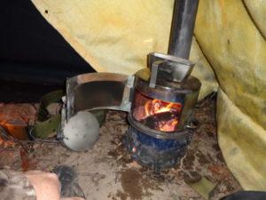 Печка из стальной трубы