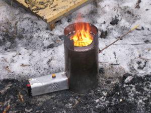 Печка из консервных банок без масляного фильтра