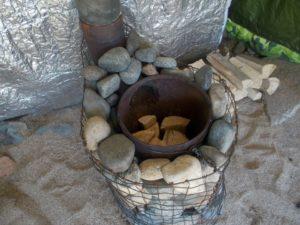 Как построить печь для походной бани