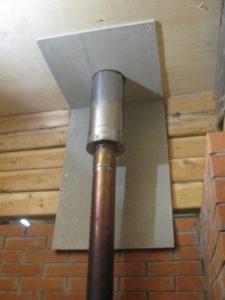 изолировать металлическую трубу дымохода