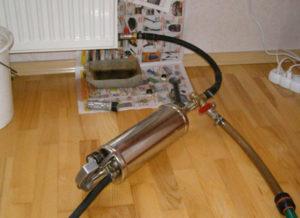 промывка системы отопления гидропневматическим способом