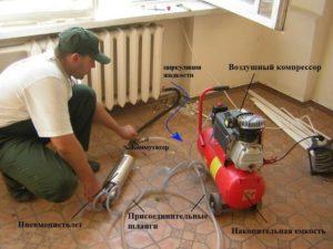 опрессовка системы отопления разными способами