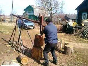 Как сделать ручной дровокол