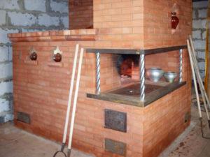 русскую печку с плитой и лежанкой