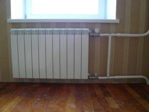 Место установки радиаторов