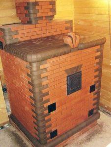 Устройство печи с закрытой каменкой для бани