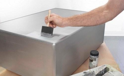 покрасить печь в бане