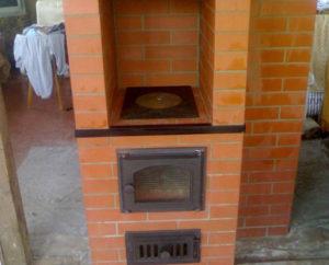 печь с камином